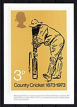 GREAT BRITAIN PHQ CARDS 1973 Cricket Mint, fine. Cat £70