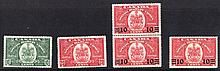 CANADA George VI - early QEII Mint range on stockcards incl. 1946-47 Peace set, booklet panes, Speci