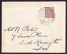 GREAT BRITAIN FIRST DAY COVERS 1912 (Oct 15th) 1½d Royal Cypher on plain cover with International St