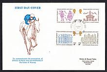 GREAT BRITAIN FIRST DAY COVERS 1973 Inigo Jones Newmarket (Rotary Club) Official FDC. Address label,