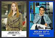 AUTOGRAPHS Holby City: 15 x 10 cm colour photos signed by the cast (13 different). This lot is sold