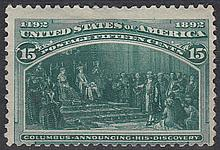 UNITED STATES OF AMERICA 1893 Columbus 15c green Mint. SG 243 Cat £200