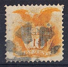 UNITED STATES OF AMERICA 1869 10c orange used. SG 118 Cat £140