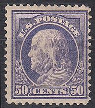 UNITED STATES OF AMERICA 1912 50c lilac Mint, fine. SG 524 Cat £85