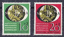 GERMANY: WEST GERMANY 1951 Philatelic Exhibition set Mint, fine. SG 1067-8 Cat £115 (2)