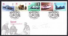 AUTOGRAPHS Brian Trubshaw: Autographed on 1998 Speed FDC. Certified on reverse No. 3 of 9 covers. Un