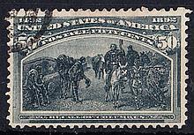 UNITED STATES OF AMERICA 1893 Columbus 50c slate used, fine. SG 245 Cat £180