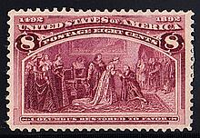 UNITED STATES OF AMERICA 1893 Columbus 8c red Mint, fine. SG 241 Cat £75