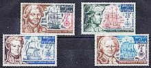 FRENCH COLONIES Wallis & Futuna: 1973 Explorers set U/M, fine. SG 221-4 Cat £65 (4)