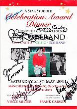 AUTOGRAPHS Football: 2011 Manchester United Celebration Award Dinner to honour Pat Crerand programme