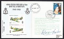 AUTOGRAPHS Douglas Bader: Autographed on 1980 40th Anniversary of Battle of Britain cover. Address l