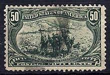 UNITED STATES OF AMERICA 1898 Trans-Mississippi Exposition 50c green used, fine. SG 297 Cat £190