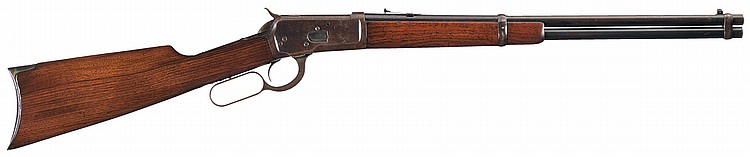 Scarce Documented Rifle Butt Winchester Model 1892 Saddle Ring Carbine with Factory Letter