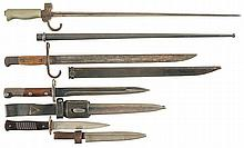 Three Bayonets and One Knife, with Sheaths