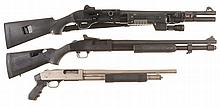 Three Shotguns -A) Benelli M1 Super 90 Semi-Automatic Shotgun