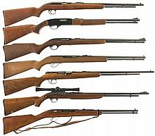 Seven Semi-Automatic Rifles -A) Winchester Model 77 Rifle