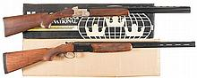Two Boxed Over/Under Shotguns -A) Mossberg Silver Reserve Field Shotgun