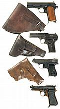 Four Semi-Automatic Pistols -A) Femaru Model 37M Pistol with Holster