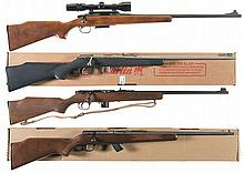 Four Bolt Action Sporting Rifles -A) Remington Model 788 Rifle with Scope
