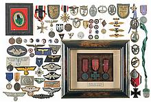 Large Grouping of German Style Medals, Badges and Similar Items