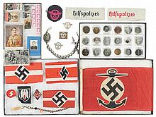 Grouping of Nazi-Style Items Chiefly Political/Party Related