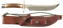 Randall Made/ Randall Knife Society RKS-4 Model 4-8 Fighting Knife with Sheath