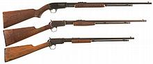 Three Winchester Slide Action Rifles -A) Winchester Model 61 Rifle