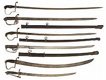 Six Swords, Including a 1874-Vintage Wilkinson Infantry Sword with Documentation