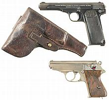 Two European Semi-Automatic Pistols -A) FN Model 1922 Yugoslavian Contract Pistol with Holster and Extra Magazine