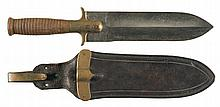 1880-Pattern Hunting Knife with Springfield Markings and Sheath