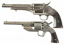 Two Antique Revolvers -A) Forehand & Wadsworth New Model Army Revolver