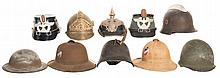 Ten Helmets mostly European Style
