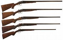 Five Double Barrel Shotguns -A) American Gun Co Model The Wyco Hammerless Shotgun