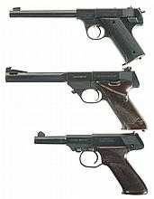 Three High Standard Semi-Automatic Pistols -A) High Standard Model HB Type 2 Pistol
