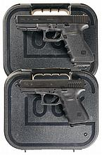 Two Glock Semi-Automatic Pistols with Cases -A) Glock 21 Pistol