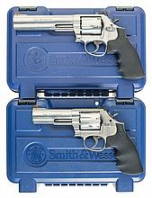 Two Smith & Wesson Model 686-6 Double Action Revolvers with Cases -A) S&W; Model 686-6 Revolver