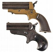 Two Sharps Pepperbox Pistols -A) Sharps Model 1A Pistol