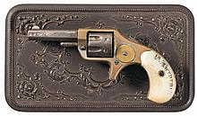 Colt New Line 22 Pocket Revolver with Inscribed Pearl Grips and Gutta Percha Case