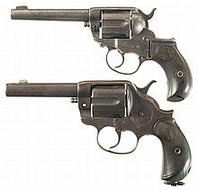 Two Colt Double Action Revolvers -A) Colt Model 1878 Frontier Six Shooter Revolver