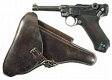 Erfurt 1913 Dated Luger Pistol with 1913 Dated Holster