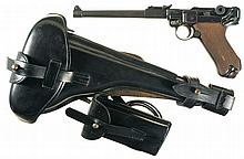 DWM 1917 Dated Artillery Luger Pistol with Stock Rig