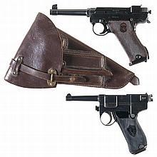 Two European Semi-Automatic Pistols -A) Husqvarna Lahti Model 40 Pistol with Holster and Extra Magazine