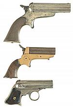 Three Antique American Pepperbox Pistols -A) Sharps Model 3A Pistol
