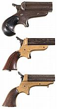 Three Sharps Pepperbox Pistols -A) Sharps Model 4B Pistol