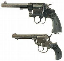 Two Colt Double Action Revolvers -A) Colt New service Revolver
