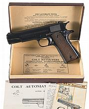 Pre-War Colt Super 38 with Colt Factory Shipping Box and Instruction Manual