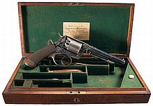 Retailer Cased Engraved Beaumont-Adams Self-Cocking Percussion Revolver with Wilkinson & Son Retailer Markings