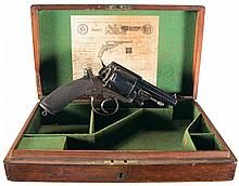 Cased Adams Small Arms Company Model 1872 Double Action Revolver with Scarce Short Barrel