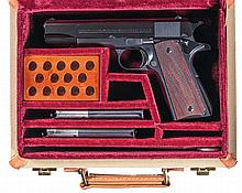 Custom Cased Colt Super 38 Semi-Automatic Pistol with Extra Magazine and Papers