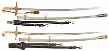 Two Inscribed United States Marine Corps Mameluke Officer Swords with Scabbards, Documented to Two Navy Cross Winners